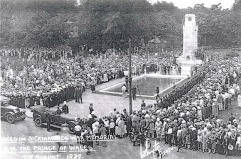 Dedication of the Cenotaph with the Prince of Wales